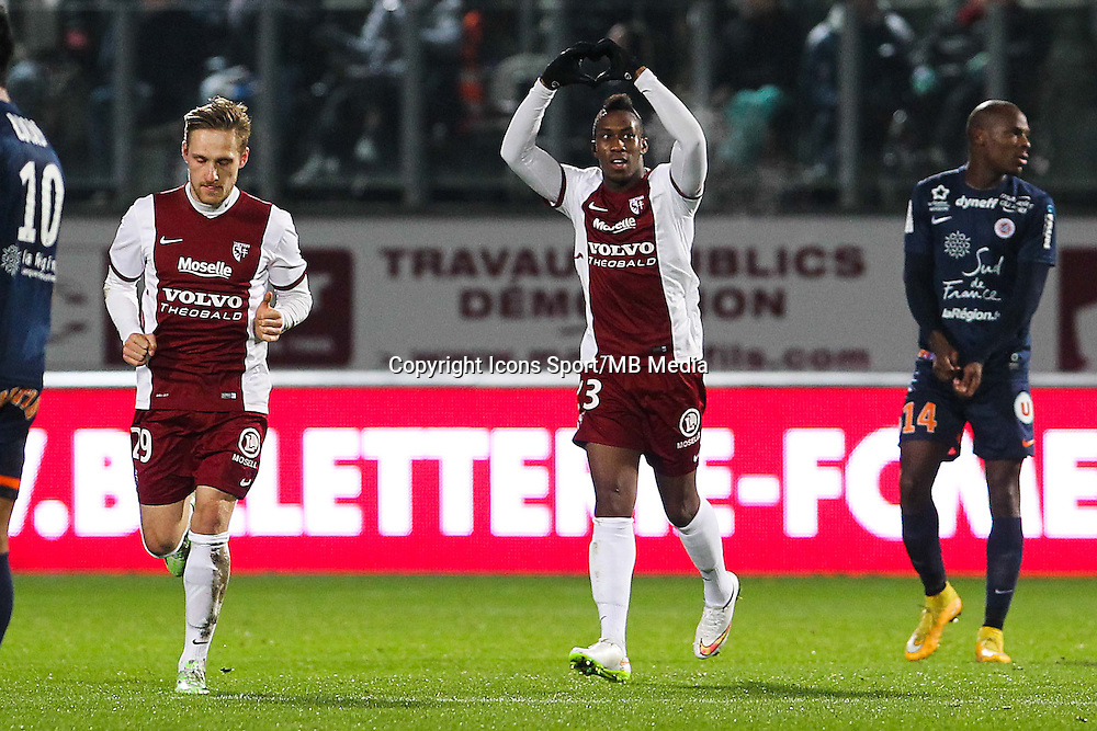 Joie Metz - Yeni atito NGBAKOTO - 17.01.2015 - Metz / Montpellier - 21eme journee de Ligue 1<br />Photo : Fred Marvaux / Icon Sport