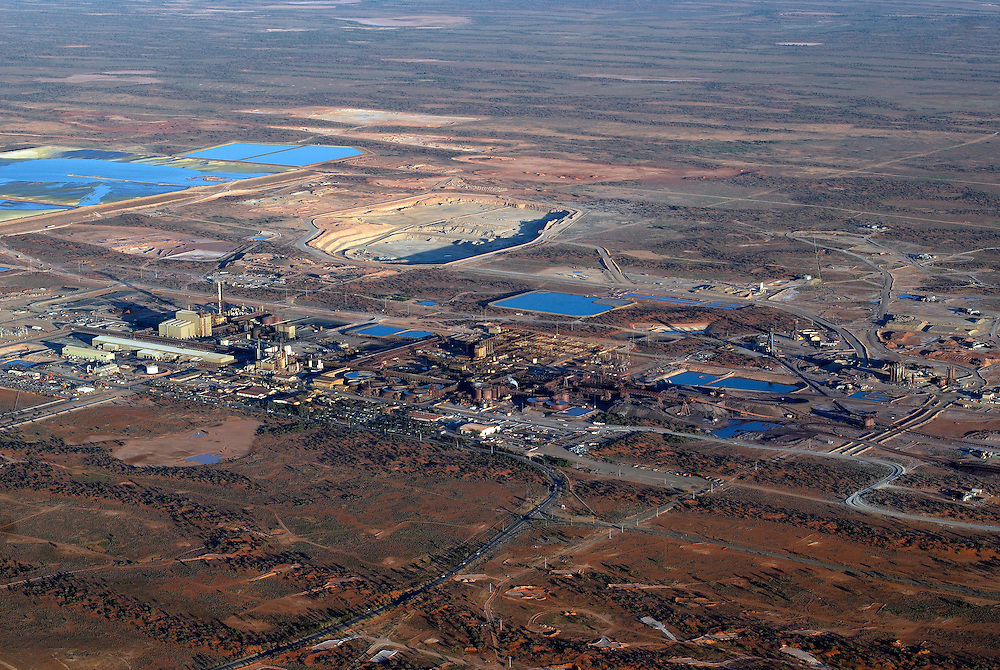 Aerial view of the Olympic Dam Copper/Uranium Mine.