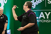 Steve Hine during the PDC Darts Players Championship at  at Butlins Minehead, Minehead, United Kingdom on 24 November 2017. Photo by Shane Healey.