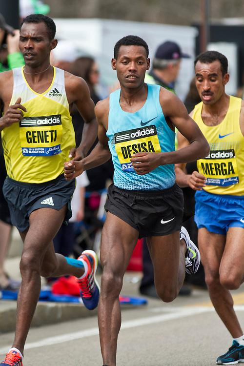 2013 Boston Marathon: Lilesa Desisa, Ethiopia, eventual winner