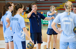 Head coach Primoz Pori at practice of Slovenian Handball Women National Team, on June 3, 2009, in Arena Kodeljevo, Ljubljana, Slovenia. (Photo by Vid Ponikvar / Sportida)