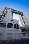 Herrods Hotel, Eilat, Israel Eilat, pop. 55,000, is Israel's southernmost city in the Southern District of Israel. Adjacent to the Egyptian city of Taba and Jordanian port city of Aqaba, Eilat is located at the northern tip of the Gulf of Aqaba, which is the eastern sleeve of the Red Sea.