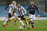 Ian Henderson wins the ball during the The FA Cup 4th round match between Millwall and Rochdale at The Den, London, England on 27 January 2018. Photo by Daniel Youngs.