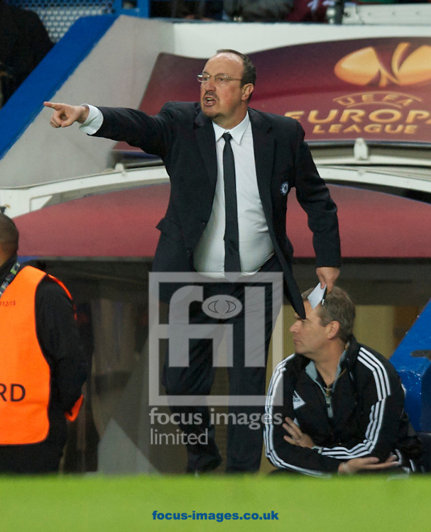 Picture by Alan Stanford/Focus Images Ltd +44 7915 056117.02/05/2013.Manager Rafael Benitez of Chelsea during the UEFA Europa League match at Stamford Bridge, London.