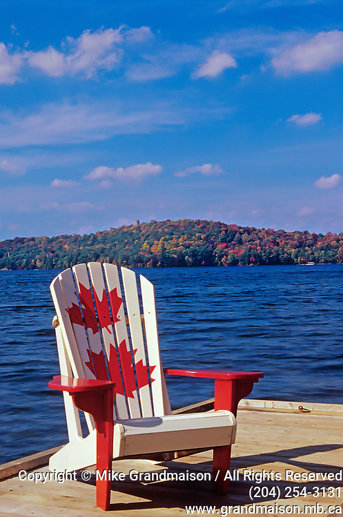 Muskoka chair on Lake of Bays,relaxing<br />