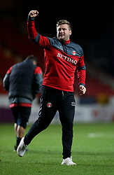 Charlton Athletic's manager Karl Robinson celebrates at full time