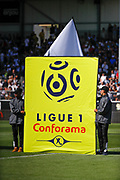Brand Conforama is partner of Ligue 1 during the French championship L1 football match between SCO Angers and Bordeaux on August 6th, 2017 at Raymond-Kopa stadium, France - PHOTO Stéphane Allaman / ProSportsImages / DPPI
