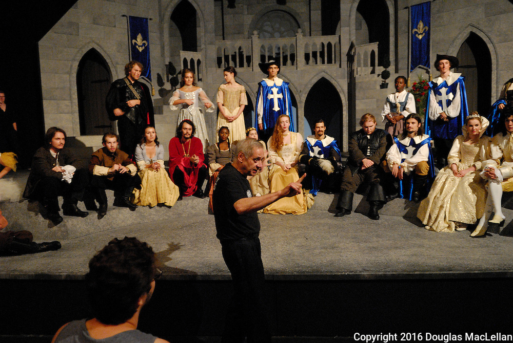 """""""The Three Musketeers"""" adapted by Ken Ludwig from a novel by Alexandre Dumas. Directed by Brain Taylor. A University Players production."""