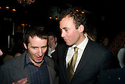 TRAVIS KATZ; ( MYSPACE) WILL LEWIS. Book launch for Citizen by Charlie Brooks. Tramp. London. 1 April  2009
