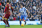Brighton & Hove Albion winger Anthony Knockaert (11) during the EFL Sky Bet Championship match between Brighton and Hove Albion and Queens Park Rangers at the American Express Community Stadium, Brighton and Hove, England on 27 December 2016. Photo by Phil Duncan.