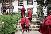 Monks during a lunch break at the <br />