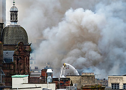 Firefighters fighting major fire  at Victoria's nightclub on Sauchiehall Street central Glasgow on 22 March 2018, Scotland, UK. Major fire in Glasgow City Centre on Sauchiehall Street on March 22 2018.