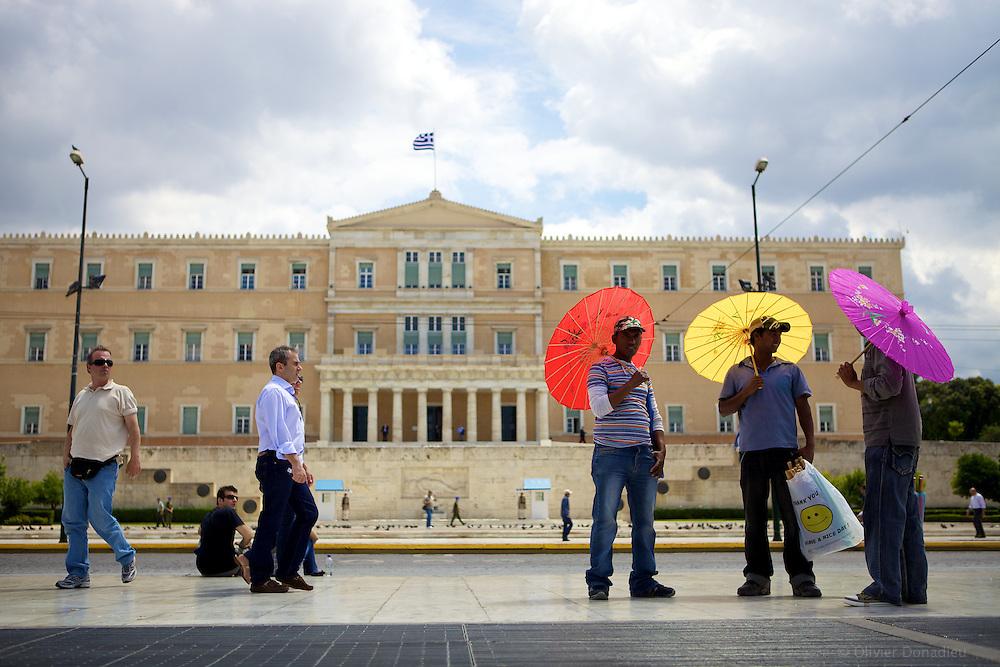 The Greek Parliament. Le Parlement grec.