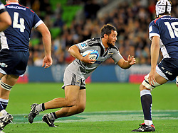 Jack Lam (HUR).Melbourne Rebels v The Hurricanes.Rugby Union - 2011 Super Rugby.AAMI Park, Melbourne VIC Australia.Friday, 25 March 2011.© Sport the library / Jeff Crow