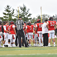 October 7,2017 - Lisle, IL,US - Benedictine University vs Concordia University (Wis)  at Benedictine University Sports Complex in Lisle IL. <br /> Benedictine (Eagles) vs Concordia (Falcons).  After a close first half the Eagles proved to be just too much for the Falcons. Eagles roll past the Falcons winning 40-14.<br /> Credit: Dean Reid