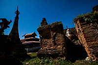 Temple ruins at Inle Lake in Shan State, Myanmar.