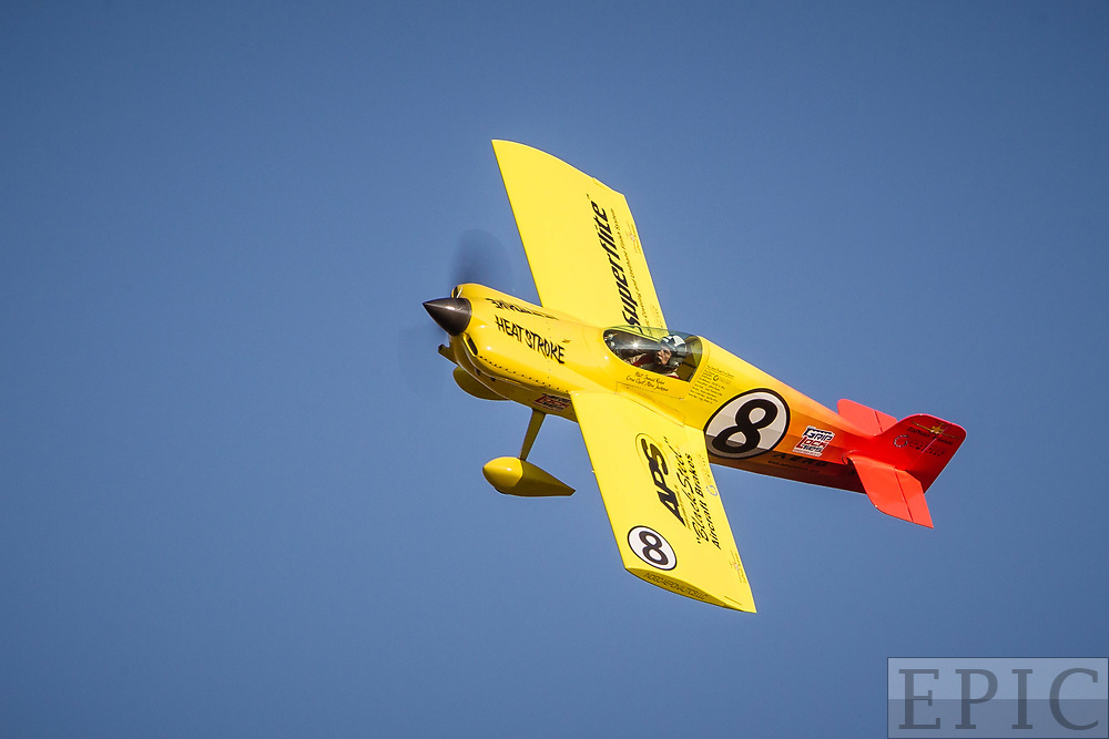 RENO, NV - SEPTEMBER 15: #8 Swaid Rahn leans through a turn during a formula one heat at the Reno Championship Air Races on September 15, 2017 in Reno, Nevada. (Photo by Jonathan Devich/Getty Images) *** Local Caption *** Swaid Rahn