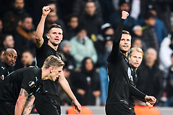 December 13, 2018 - Istanbul, Turkey - 181213 Marcus Antonsson and Arn—r Ingvi Traustason of MalmÅ¡ FF celebrates after 0-1 during the Europa league match between Besiktas and MalmÅ¡ FF on December 13, 2018 in Istanbul..Photo: Petter Arvidson / BILDBYRN / kod PA / 92175 (Credit Image: © Petter Arvidson/Bildbyran via ZUMA Press)
