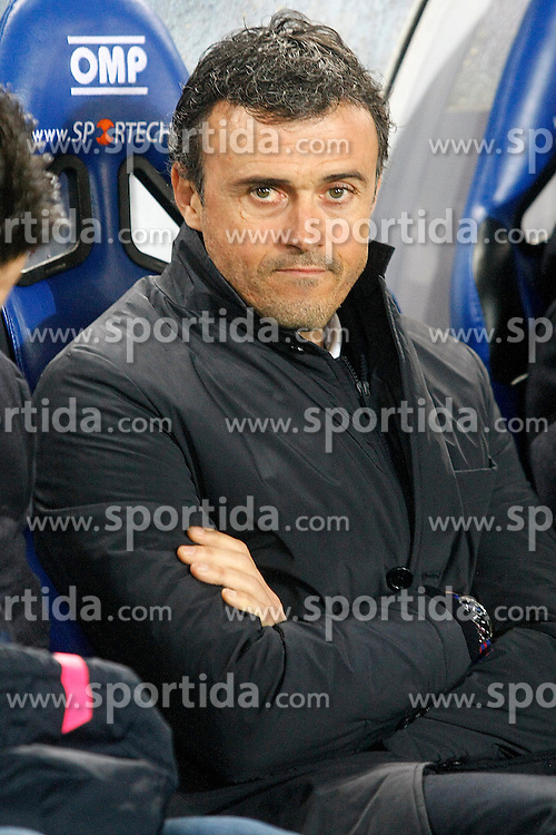 04.01.2015, Anoeta Stadium, San Sebastian, ESP, Primera Division, Real Sociedad vs FC Barcelona, 17. Runde, im Bild FC Barcelona's coach Luis Enrique Martinez // during the Spanish Primera Division 17th round match between Real Sociedad and Barcelona FC at the Anoeta Stadium in San Sebastian, Spain on 2015/01/04. EXPA Pictures &copy; 2015, PhotoCredit: EXPA/ Alterphotos/ Acero<br /> <br /> *****ATTENTION - OUT of ESP, SUI*****
