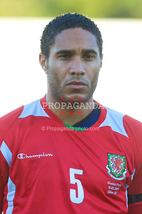 VILA REAL DE SANTO ANTONIO, PORTUGAL - Wednesday, February 11, 2009: Wales' Ashley Williams before the International Friendly match against Poland at the Vila Real de Santo Antonio Sports Complex. (Mandatory credit: David Rawcliffe/Propaganda)