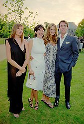 7 July 1999 - Fiona Feeley, Ghislain Maxwell, Elle Macpherson and Tim Jefferies at The Serpentine Gallery annual Summer party, London.<br /> <br /> Photo by Dominic O'Neill/Desmond O'Neill Features Ltd.  +44(0)1306 731608  www.donfeatures.com