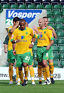 Plymouth -Saturday September 13th 2008:Antoine Sibierski celebrates his goal Norwich City during the Coca Cola Championship match at Plymouth.(Pic by Tony Carney/Focus Images)