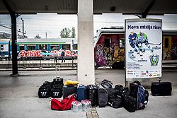 Departure to Budapest of Slovenian Ice Hockey National Team, on April 17, 2017 in Railway station, Ljubljana, Slovenia. Photo by Vid Ponikvar / Sportida
