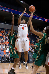 Virginia Cavaliers Guard Paulisha Kellum (3) shoots against South Florida.  The Virginia Cavaliers defeated the South Florida Bulls 73-71 in the third round of the Women's NIT held at John Paul Jones Arena in Charlottesville, VA on March 22, 2007.