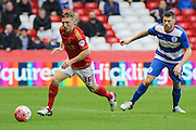 Nottingham Forest midfielder Ben Osborn on the ball during The FA Cup third round match between Nottingham Forest and Queens Park Rangers at the City Ground, Nottingham, England on 9 January 2016. Photo by Aaron Lupton.