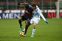 c - Milano - 21.01.2017 - Serie A 21a giornata  -  Milan-Napoli   - nella foto:  Carlos Bacca in lotta con Jorginho