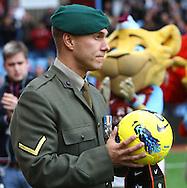 Picture by Paul Chesterton/Focus Images Ltd.  07904 640267.5/11/11.Remembrance day tributes before the Barclays Premier League match at Villa Park stadium, Birmingham.