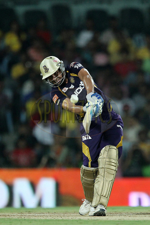 Manvinder Bisla during the final of the Indian Premier League ( IPL ) 2012  between The Kolkata Knight Riders and the Chennai Superkings held at the M. A. Chidambaram Stadium, Chennai on the 27th May 2012..Photo by Ron Gaunt/IPL/SPORTZPICS