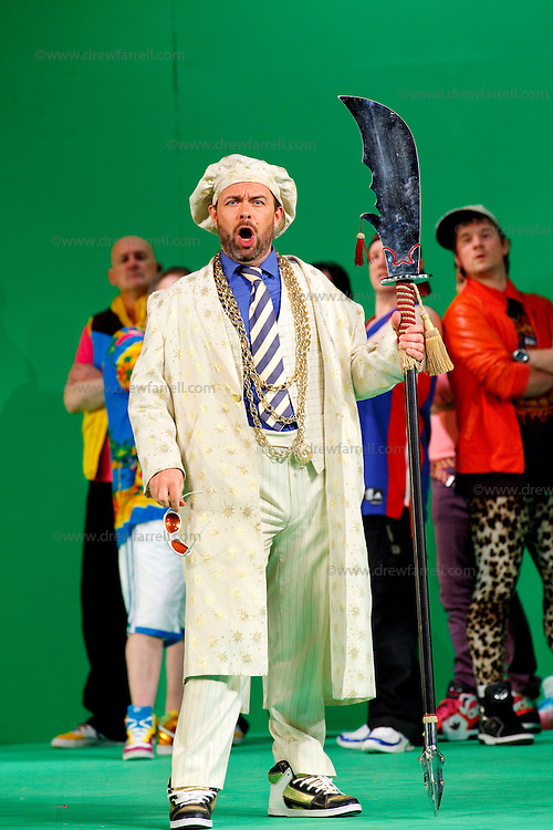 Picture shows : Adrian Powter as Taddeo...Picture  ©  Drew Farrell Tel : 07721 -735041..A new Scottish Opera production of  Rossini's 'The Italian Girl in Algiers' opens at The Theatre Royal Glasgow on Wednesday 21st October 2009..(Soap) opera as you've never seen it before.Tonight on Algiers.....Colin McColl's cheeky take on Rossini's comic opera is a riot of bunny girls, beach balls, and small screen heroes with big screen egos. Set in a TV studio during the filming of popular Latino soap, Algiers, the show pits Rossini's typically playful and lyrical music against the shoreline shenanigans of cast and crew. You'd think the scandal would be confined to the outrageous storylines, but there's as much action off set as there is on.....Italian bass Tiziano Bracci makes his UK debut in the role of Mustafa. Scottish mezzo-soprano Karen Cargill, who the Guardian called a 'bright star' for her performance as Rosina in Scottish Opera's 2007 production of The Barber of Seville, sings Isabella..Cast .Mustafa...Tiziano Bracci.Isabella..Karen Cargill.Lindoro...Thomas Walker.Elvira...Mary O'Sullivan.Zulma...Julia Riley.Haly...Paul Carey Jones.Taddeo...Adrian Powter..Conductors.Wyn Davies.Derek Clarke (Nov 14)..Director by Colin McColl.Set and Lighting Designer by Tony Rabbit.Costume Designer by Nic Smillie..New co-production with New Zealand Opera.Production supported by.The Scottish Opera Syndicate.Sung in Italian with English supertitles..Performances.Theatre Royal, Glasgow - October 21, 25,29,31..Eden Court, Inverness - November 7. .His Majesty's Theatre, Aberdeen  - November 14..Festival Theatre,Edinburgh - November 21, 25, 27 ...Note to Editors:  This image is free to be used editorially in the promotion of Scottish Opera. Without prejudice ALL other licences without prior consent will be deemed a breach of copyright under the 1988. Copyright Design and Patents Act  and will be subject to payment or legal action, where appropriate..Further further information please co
