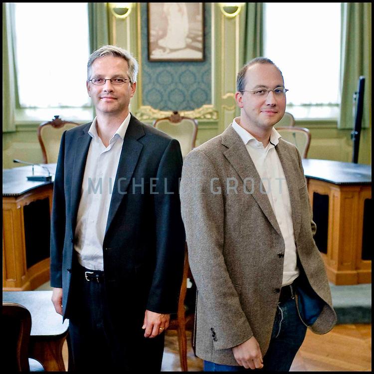 Mark Wissink en Mark de Hertogh, the Hague Institute for the Internationalisation of Law (HIIL) on August 29, 2007 in Groningen, The Netherlands. (Photo by Michel de Groot)