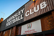 A view from outside Oakwell Stadium prior to the EFL Sky Bet Championship match between Barnsley and Queens Park Rangers at Oakwell, Barnsley, England on 14 December 2019.