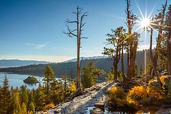 """Emerald Bay in Autumn 4"" - Photograph of fall foliage above Emerald Bay, Lake Tahoe."