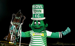Yeovil Town mascot the Jolly Green Giant before the Emirates FA Cup, fourth round match at Huish Park, Yeovil.