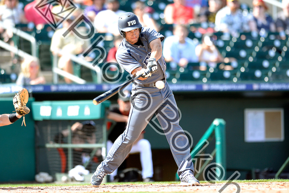 2015 March 02 - FIU's Brian Portelli (46). <br /> Florida International University fell to the Miami Marlins, 2-7, at Roger Dead Stadium, Jupiter, Florida. (Photo by: Alex J. Hernandez / photobokeh.com) This image is copyright by PhotoBokeh.com and may not be reproduced or retransmitted without express written consent of PhotoBokeh.com. &copy;2015 PhotoBokeh.com - All Rights Reserved