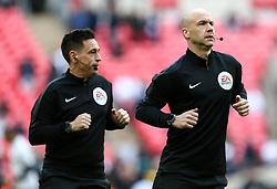 referee Anthony Taylor (right) - Mandatory by-line: Arron Gent/JMP - 02/03/2019 - FOOTBALL - Wembley Stadium - London, England - Tottenham Hotspur v Arsenal - Premier League