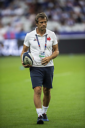 France's assistant coach Fabien Galthie during the international test rugby union match between France and Italy at the Stade de France in Saint-Denis, north of Paris, on August 30, 2019. France won 47-19. Photo by Eliot Blondet/ABACAPRESS.COM
