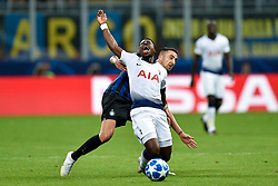 September 18, 2018 - Serge Aurier of Tottenham Hotspur and Matias Vecino of Inter Milan fight for the ball during the UEFA Champions League Group B match between Inter Milan and Tottenham Hotspur at Stadio San Siro, Milan, Italy on 18 September 2018. Photo by Giuseppe Maffia. (Credit Image: © AFP7 via ZUMA Wire)