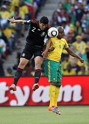 11.06.2010, Soccer City Stadium, Johannesburg, RSA, FIFA WM 2010, Südafrika (RSA) vs Mexico (MEX), im Bild Francisco J. Rodriguez of Mexico in action with Katlego Mphela of South Africa, EXPA Pictures © 2010, PhotoCredit: EXPA/ IPS/ Mark Atkins