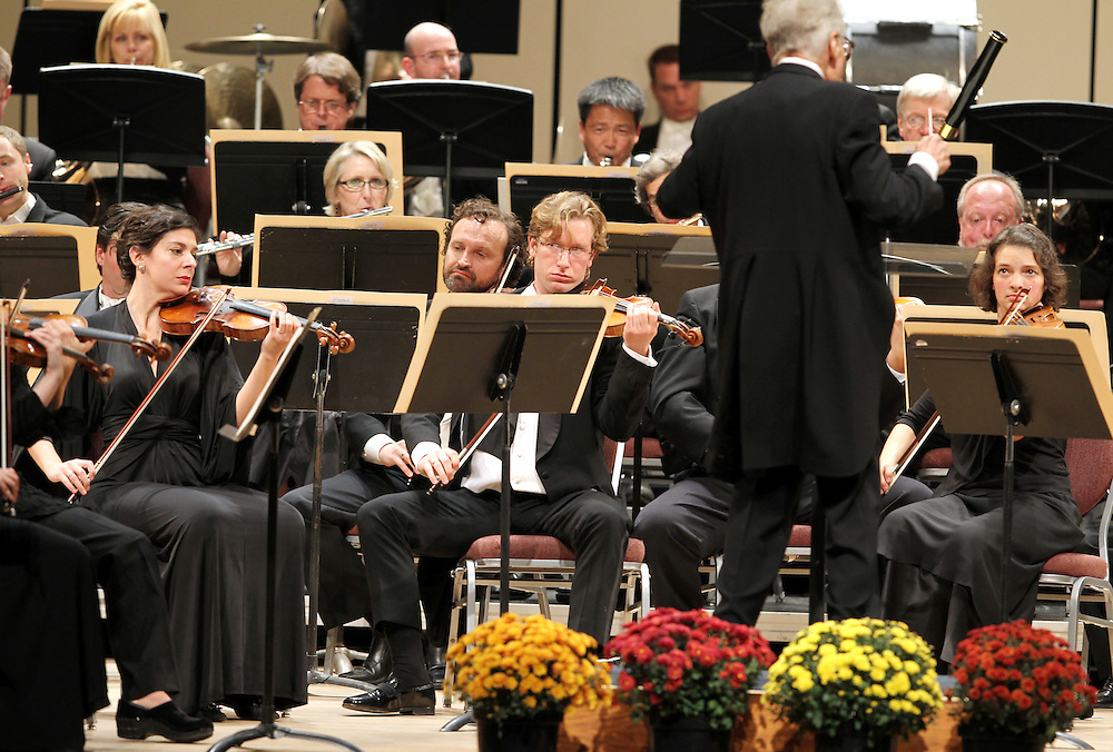 The Minnesota Orchestra performs to a sold out crowd at the Minneapolis Convention Center October 18, 2012.