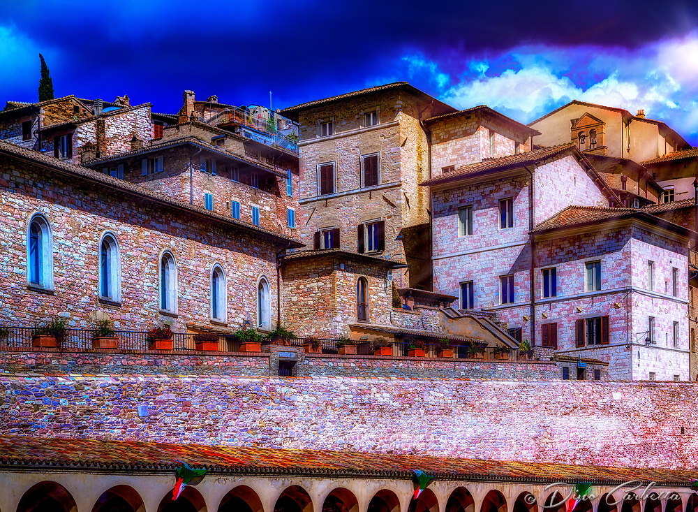 """Rising above the Basilica Piazza San Francesco – Assisi""…<br />
