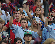 Ole Miss students cheer at Vaught-Hemingway Stadium in Oxford, Miss. on Saturday, September 25, 2010. Ole Miss won 55-38.