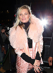 Supermodel Kate Moss attends the launch of Annabel's Docu-Film 'A String of Naked Lightbulbs' at Annabel's private members club in Mayfair, London, UK. 28/10/2014<br />