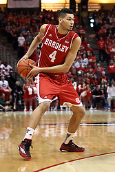 17 January 2015:   Auston Barnes during an NCAA MVC (Missouri Valley Conference men's basketball game between the Bradley Braves and the Illinois State Redbirds at Redbird Arena in Normal Illinois