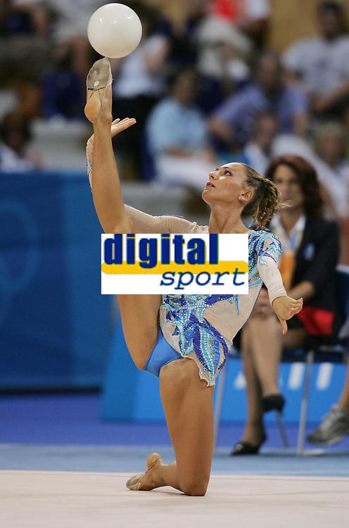 OL 2004 Athen<br /> Foto: Witters/Digitalsport<br /> NORWAY ONLY<br /> <br /> RS / Rytmisk Sportsgymnastikk<br /> <br /> Laura Zacchilli Itallia<br /> Olympia 2004 Rhythmische Sportgymnastik