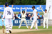 Harvey Hosein of Derbyshire batting survives an lbw appeal during the Tour Match match between Derbyshire County Cricket Club and Australia at the Pattonair County Ground, Derby, United Kingdom on 29 August 2019.