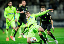 Patrik Posavac of Koper vs Miha Zajc of NK Olimpija during football match between FC Luka Koper and NK Olimpija Ljubljana in Round #16 of Prva liga Telekom Slovenije 2016/17, on November 6, 2016 in Stadium Bonifika, Koper/ Capodistria, Slovenia. Photo by Vid Ponikvar / Sportida
